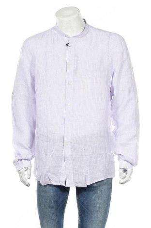 Ανδρικό πουκάμισο Liu Jo, Μέγεθος XL, Χρώμα Βιολετί, Λινό, Τιμή 19,20€