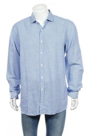 Мъжка риза Liu Jo, Размер XL, Цвят Син, 55% лен, 45% памук, Цена 31,54лв.