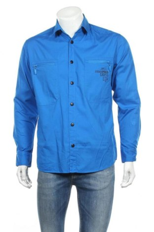Ανδρικό πουκάμισο Rainbow, Μέγεθος M, Χρώμα Μπλέ, Βαμβάκι, Τιμή 6,43€