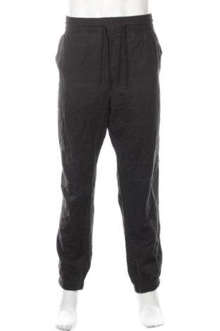 Мъжки панталон H&M L.O.G.G., Размер XL, Цвят Кафяв, 55% лен, 45% памук, Цена 30,87лв.