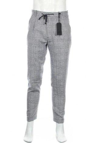 Pantaloni de bărbați Liu Jo, Mărime M, Culoare Albastru, 55% viscoză, 45% in, Preț 97,86 Lei