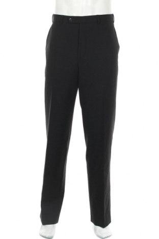 Ανδρικό παντελόνι Vinci, Μέγεθος L, Χρώμα Μαύρο, 60% μαλλί, 38% πολυεστέρας, 2% ελαστάνη, Τιμή 14,36€