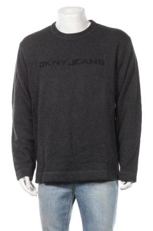 Ανδρικό πουλόβερ DKNY Jeans, Μέγεθος XL, Χρώμα Γκρί, Βαμβάκι, Τιμή 27,93€