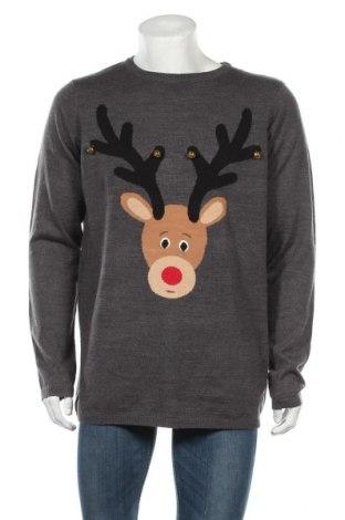 Ανδρικό πουλόβερ Livergy, Μέγεθος XL, Χρώμα Γκρί, Ακρυλικό, Τιμή 15,20€