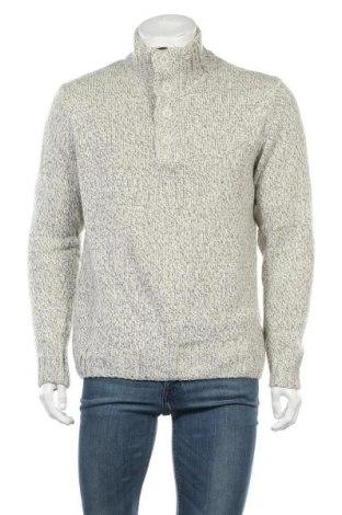 Мъжки пуловер Peckott, Размер L, Цвят Сив, 45% акрил, 30% вълна, 25% полиамид, Цена 27,93лв.