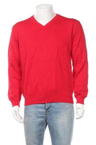 Ανδρικό πουλόβερ Walbusch, Μέγεθος L, Χρώμα Κόκκινο, Βαμβάκι, Τιμή 10,13€