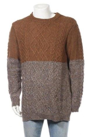 Ανδρικό πουλόβερ Yes Or No, Μέγεθος L, Χρώμα Καφέ, 70% πολυαμίδη, 30% μερινό, Τιμή 16,01€