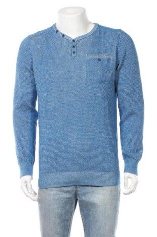 Ανδρικό πουλόβερ Yes Or No, Μέγεθος L, Χρώμα Μπλέ, Βαμβάκι, Τιμή 12,25€