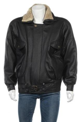 Pánská kožená bunda , Velikost L, Barva Černá, Pravá kůže, Cena  408,00Kč