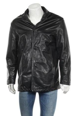 Ανδρικό δερμάτινο μπουφάν Andrew Marc, Μέγεθος M, Χρώμα Μαύρο, Γνήσιο δέρμα, Τιμή 72,74€