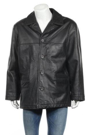 Мъжко кожено яке Angelo Litrico, Размер L, Цвят Черен, Естествена кожа, Цена 10,68лв.