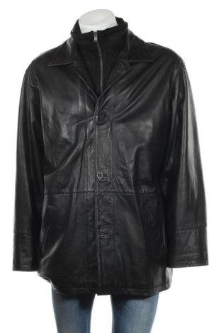 Мъжко кожено яке Peter Hahn, Размер XL, Цвят Черен, Естествена кожа, Цена 28,61лв.