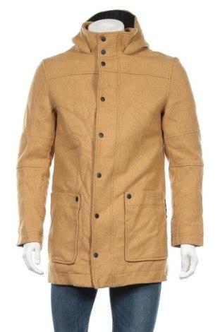 Pánský kabát  Guess, Velikost S, Barva Béžová, 80% vlna, 20% polyamide, Cena  1939,00Kč