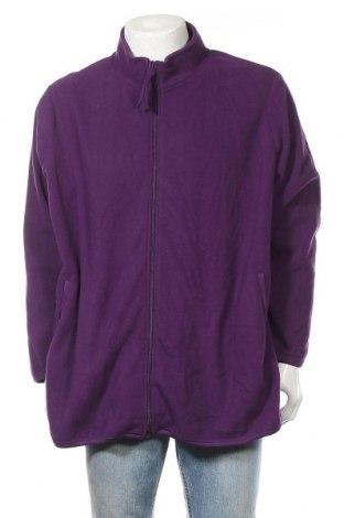 Ανδρική ζακέτα fleece Comfort, Μέγεθος XXL, Χρώμα Βιολετί, Πολυεστέρας, Τιμή 6,82€