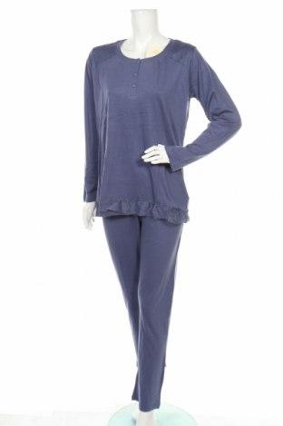 Пижама Canat, Размер S, Цвят Син, 50% памук, 50% модал, Цена 49,84лв.