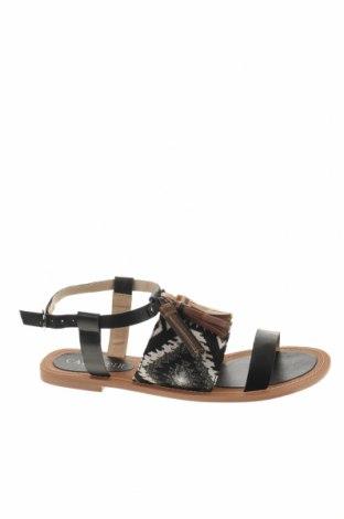 Σανδάλια CAFèNOIR, Μέγεθος 38, Χρώμα Μαύρο, Γνήσιο δέρμα, κλωστοϋφαντουργικά προϊόντα, Τιμή 28,07€