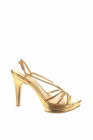 Σανδάλια Nine West, Μέγεθος 40, Χρώμα Χρυσαφί, Κλωστοϋφαντουργικά προϊόντα, Τιμή 36,88€