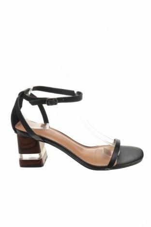 Σανδάλια Reserved, Μέγεθος 39, Χρώμα Μαύρο, Γνήσιο δέρμα, Τιμή 20,65€