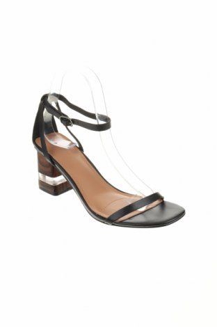 Σανδάλια Reserved, Μέγεθος 38, Χρώμα Μαύρο, Γνήσιο δέρμα, Τιμή 20,65€