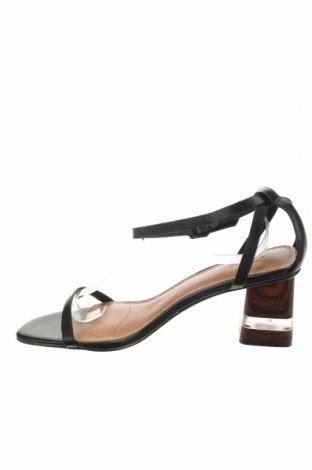 Σανδάλια Reserved, Μέγεθος 41, Χρώμα Μαύρο, Γνήσιο δέρμα, Τιμή 20,65€