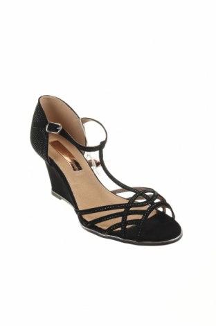 Σανδάλια Xti, Μέγεθος 39, Χρώμα Μαύρο, Κλωστοϋφαντουργικά προϊόντα, Τιμή 12,47€