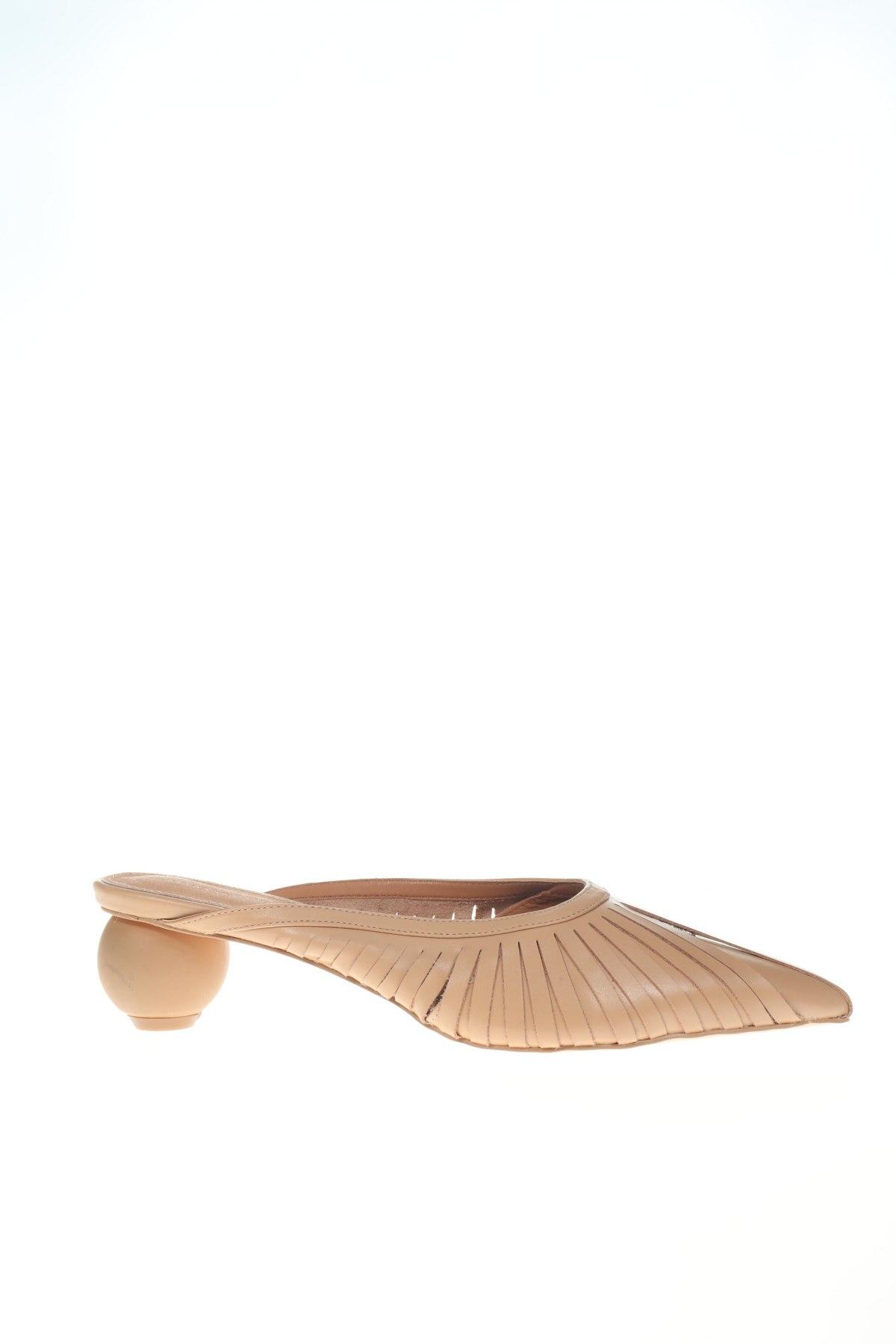 Γυναικείες παντόφλες Reserved, Μέγεθος 40, Χρώμα  Μπέζ, Γνήσιο δέρμα, Τιμή 22,94€