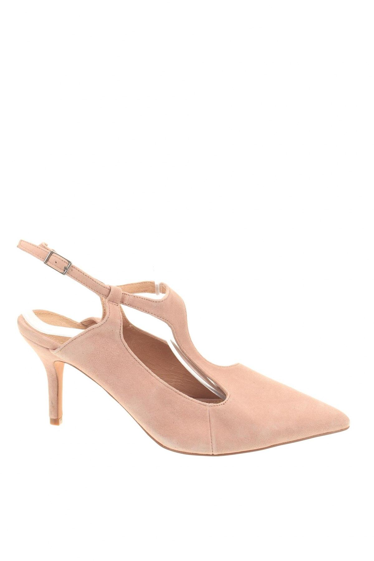 Дамски обувки Reserved, Размер 41, Цвят Розов, Естествен велур, Цена 19,80лв.