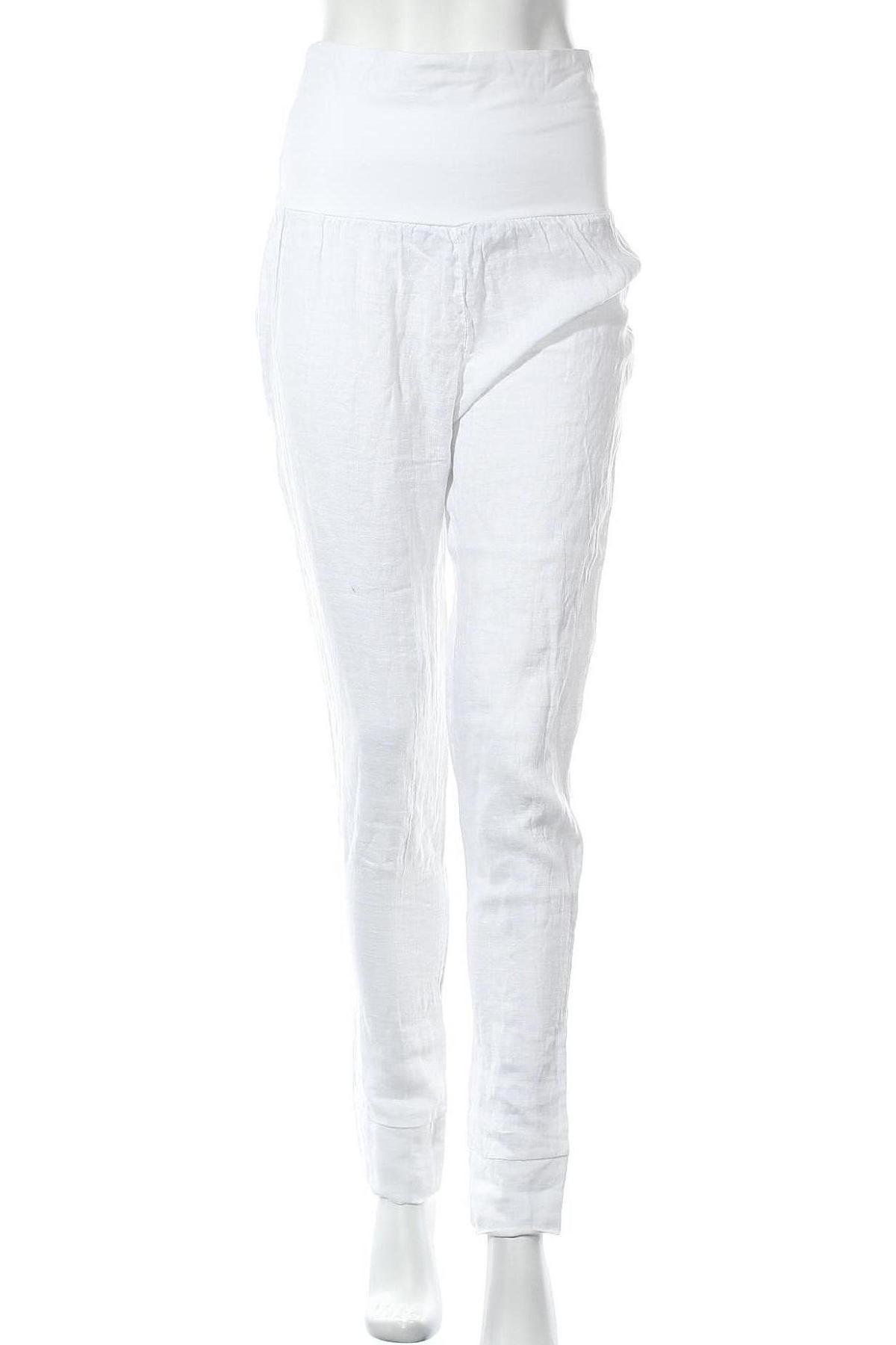 Дамски панталон, Размер M, Цвят Бял, Лен, Цена 34,50лв.