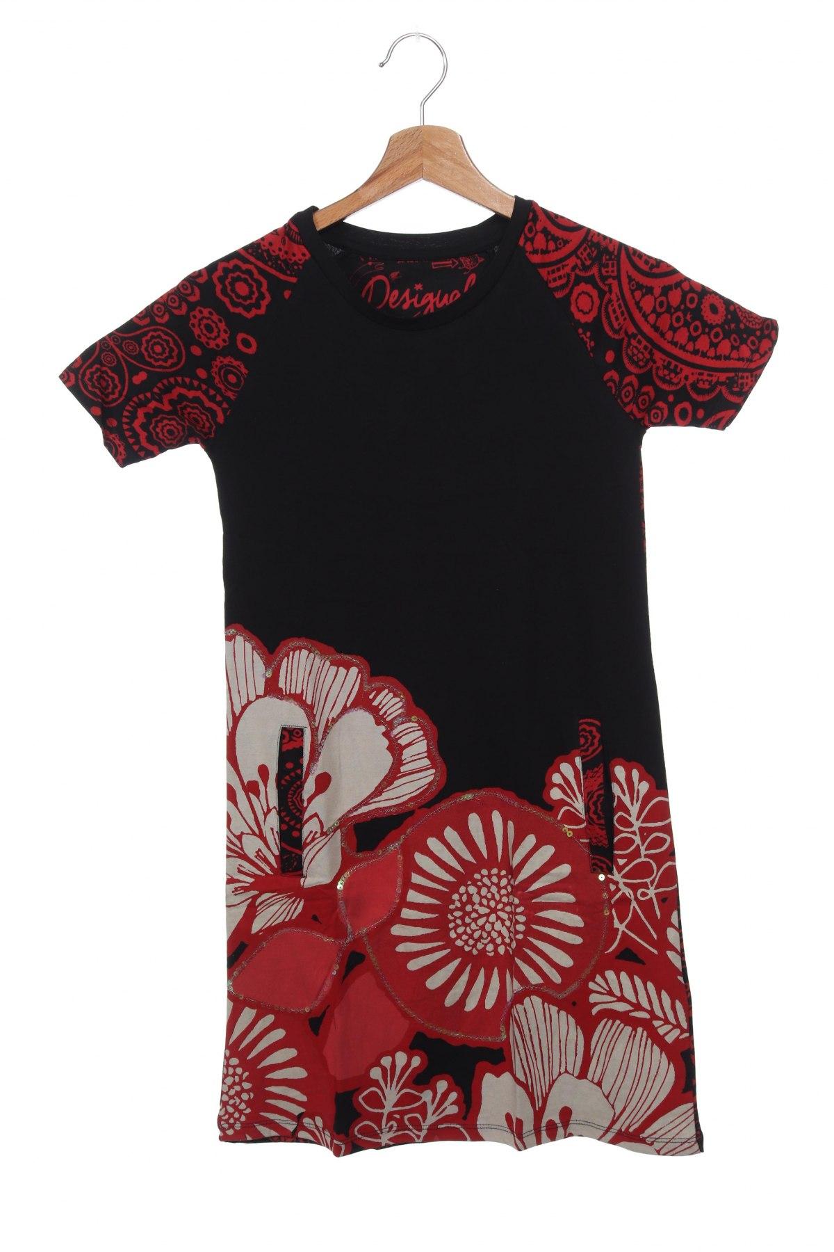 Παιδικό φόρεμα Desigual, Μέγεθος 11-12y/ 152-158 εκ., Χρώμα Μαύρο, Βαμβάκι, Τιμή 17,79€