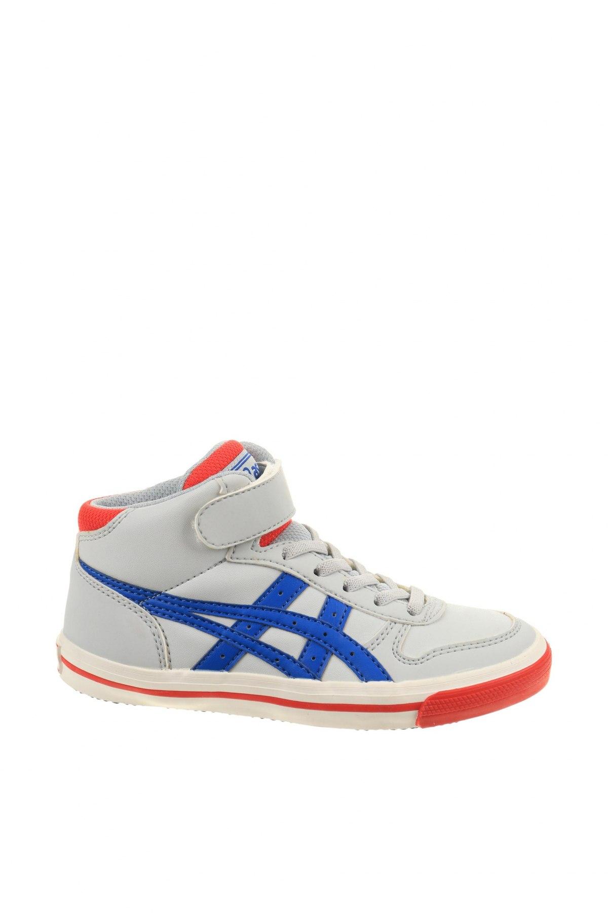 Παιδικά παπούτσια ASICS, Μέγεθος 31, Χρώμα Γκρί, Δερματίνη, Τιμή 32,51€