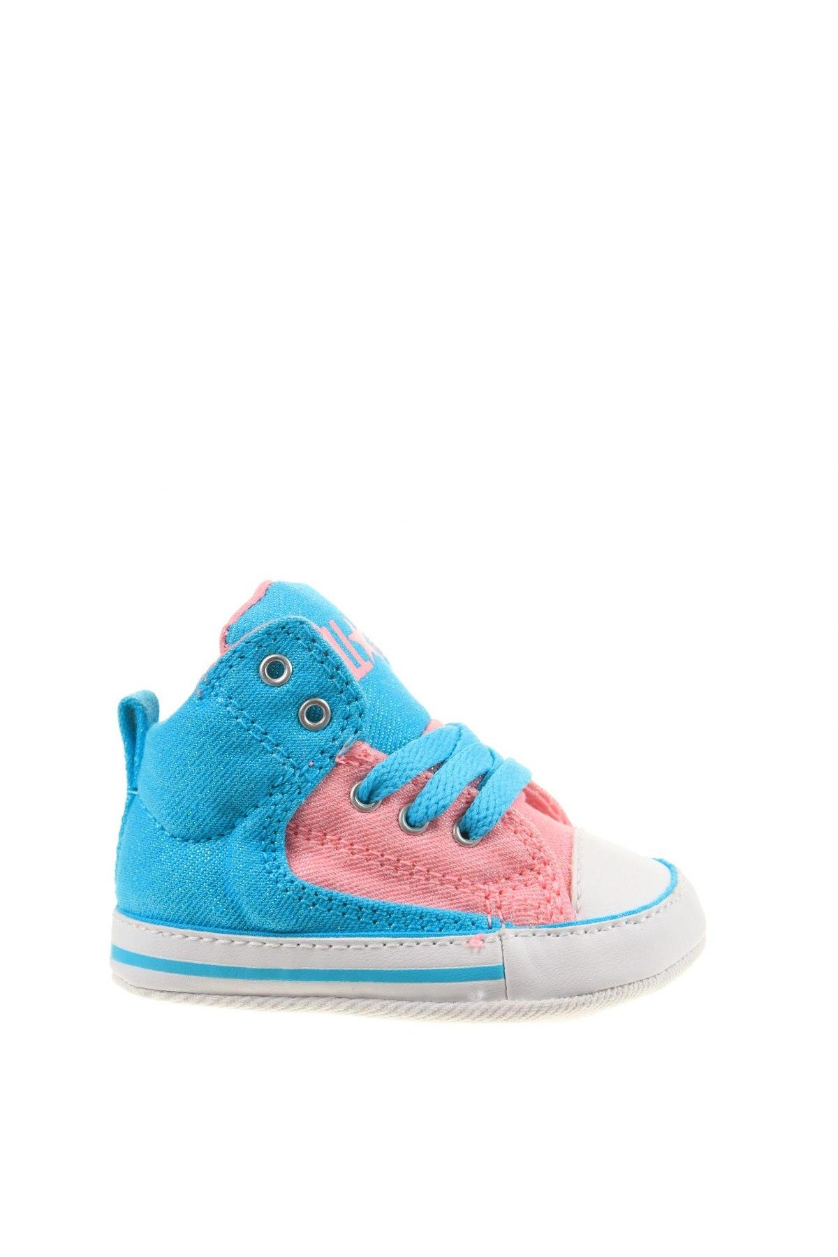 Παιδικά παπούτσια Converse, Μέγεθος 18, Χρώμα Πολύχρωμο, Κλωστοϋφαντουργικά προϊόντα, Τιμή 16,12€