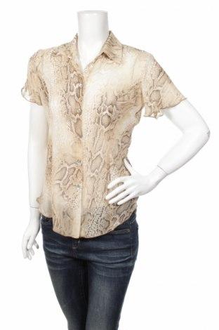 Дамска риза First You, Размер S, Цвят Бежов, 100% полиестер, Цена 3,75лв.