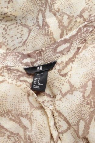 Γυναικείο πουκάμισο H&M, Μέγεθος S, Χρώμα  Μπέζ, 100% πολυεστέρας, Τιμή 9,28€