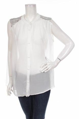 Γυναικείο πουκάμισο Vila, Μέγεθος L, Χρώμα Λευκό, 100% πολυεστέρας, Τιμή 3,25€