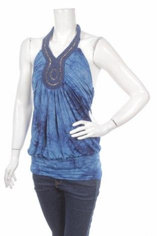 Tricou de damă Sweet Girl, Mărime M, Culoare Albastru, 65% viscoză, 35% elastan, Preț 11,57 Lei