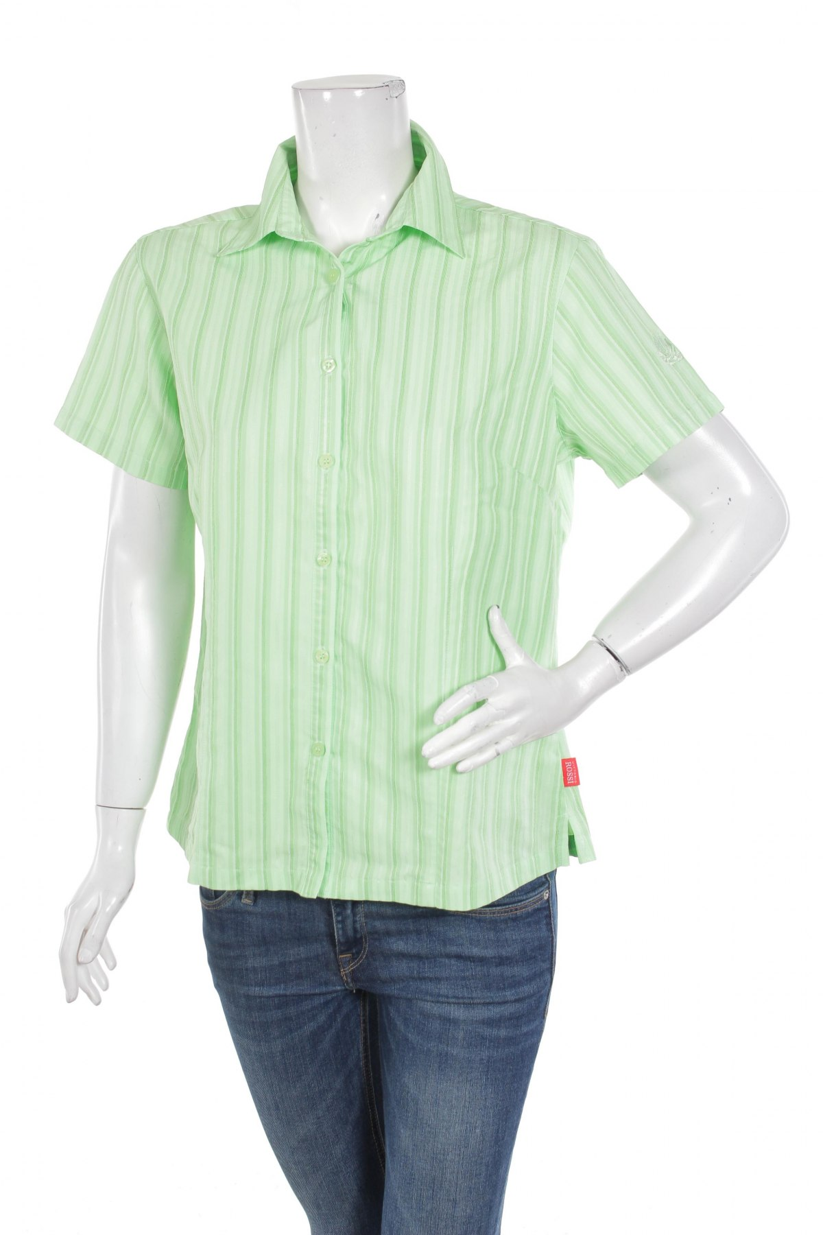 Γυναικείο πουκάμισο Vittorio Rossi, Μέγεθος L, Χρώμα Πράσινο, Τιμή 8,66€