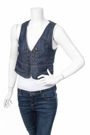 Дамски елек Fascinate, Размер M, Цвят Син, 97% памук, 3% еластан, Цена 20,40лв.