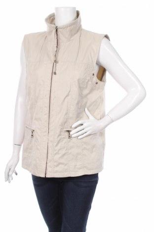 Дамски елек Wega Fashion, Размер L, Цвят Бежов, 54% полиестер, 46% полиамид, Цена 51,00лв.
