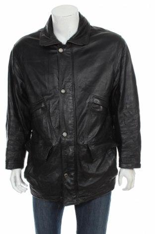 Мъжко кожено яке Montes, Размер M, Цвят Черен, Естествена кожа, Цена 90,00лв.