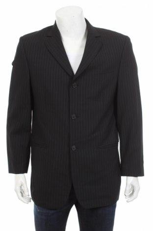 Ανδρικό σακάκι Barisal, Μέγεθος L, Χρώμα Μαύρο, 60% μαλλί, 39% πολυεστέρας, 1% ελαστάνη, Τιμή 6,23€