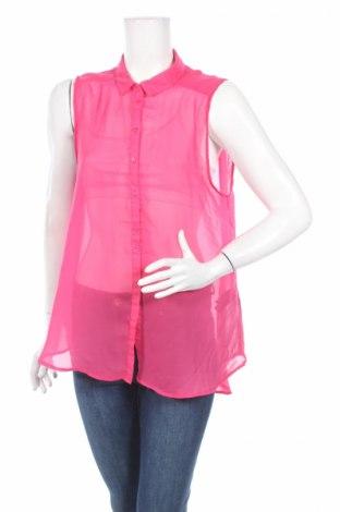 Γυναικείο πουκάμισο H&M, Μέγεθος XL, Χρώμα Ρόζ , Πολυεστέρας, Τιμή 4,86€