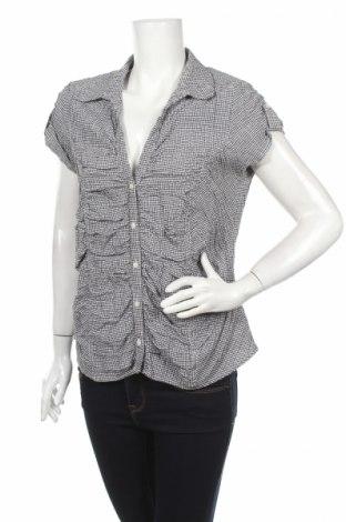 Дамска риза Ms Mode, Размер L, Цвят Черен, 58% памук, 41% полиестер, 1% еластан, Цена 17,00лв.
