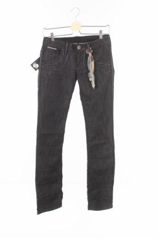 Дамски дънки Bandits Du Monde, Размер XS, Цвят Черен, 64% памук, 36% еластан, Цена 17,68лв.