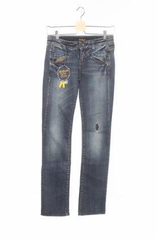 Дамски дънки Killah, Размер XS, Цвят Син, 97% памук, 3% еластан, Цена 16,64лв.