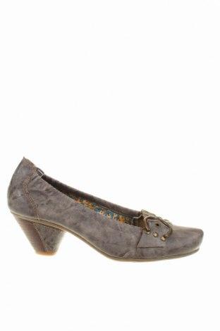 Дамски обувки, Размер 38, Цвят Сив, Еко кожа, Цена 6,25лв.