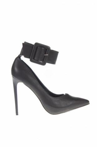 Γυναικεία παπούτσια Justfab, Μέγεθος 38, Χρώμα Μαύρο, Δερματίνη, Τιμή 9,53€