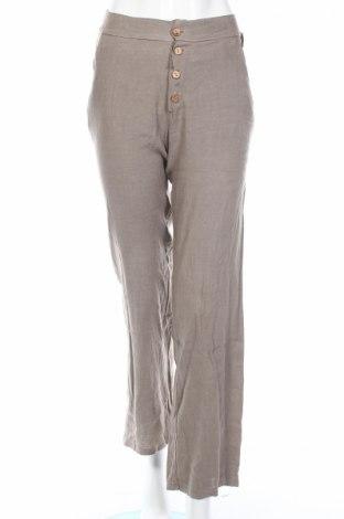 Pantaloni de femei Jean-Louis Scherrer, Mărime S, Culoare Bej, In, Preț 90,39 Lei