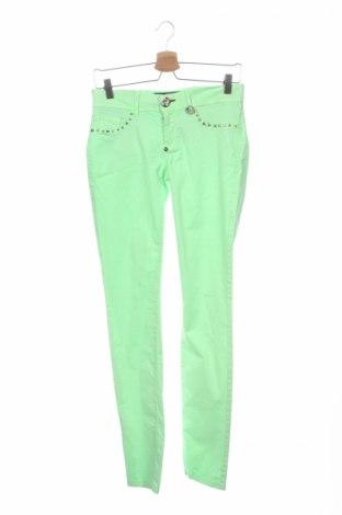 Dámske nohavice Philipp Plein, Veľkosť S, Farba Zelená, 97% bavlna, 3% elastan, Cena  57,55€