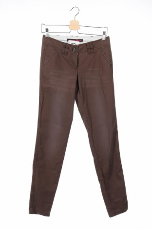 Дамски панталон Tom Tailor, Размер XXS, Цвят Кафяв, Памук, Цена 26,31лв.