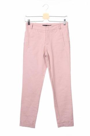 Γυναικείο παντελόνι Zara, Μέγεθος XS, Χρώμα Ρόζ , 97% βαμβάκι, 3% ελαστάνη, Τιμή 6,06€